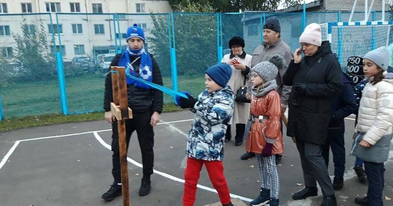 Открытие спортивной уличной площадки